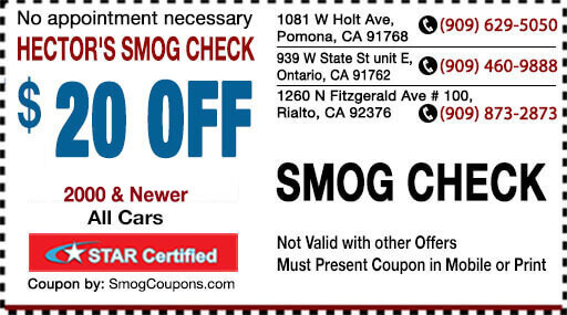 Smog inspection coupons